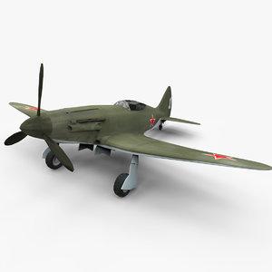 3d model mig-3 aircraft world