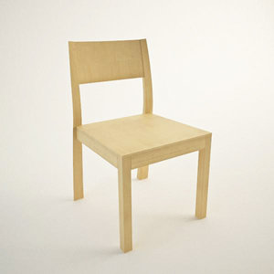 3ds max wood chair