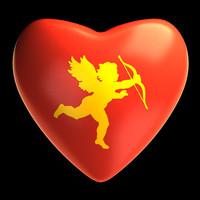 free heart cupid 3d model