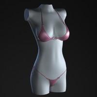 3d model bikini mannequin