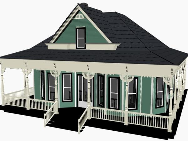 3d model of cottage