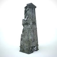 3d pillar antique model