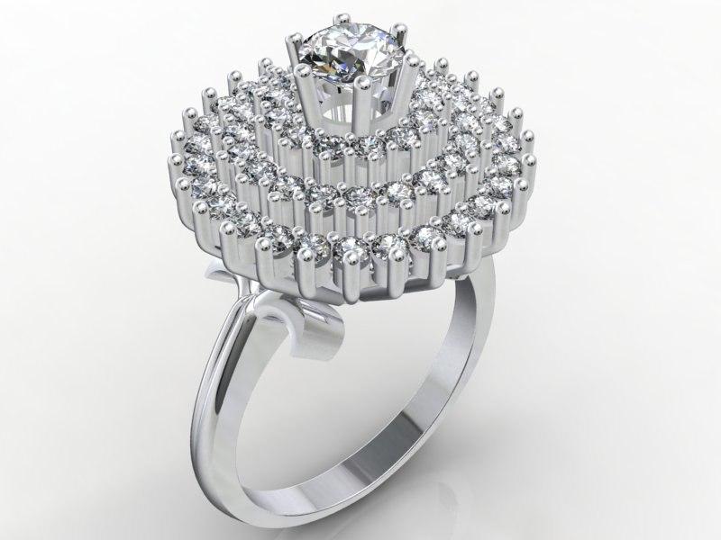 3d model silver ring