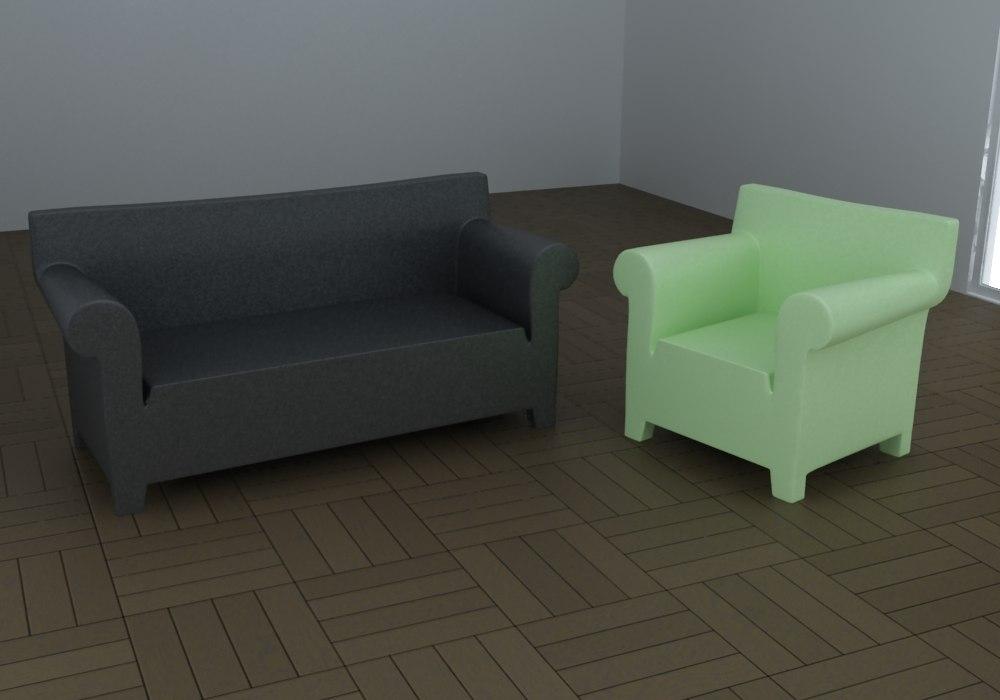 bubble sofa armchair 3d max
