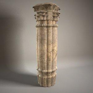 3d stone column