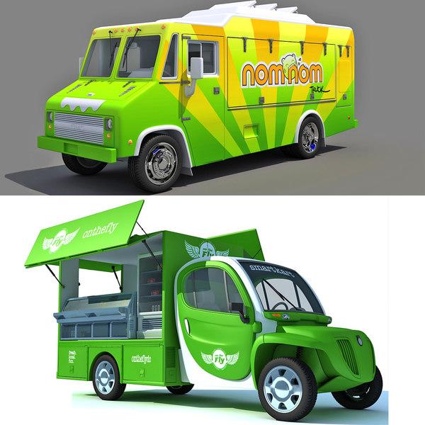 3d food truck model