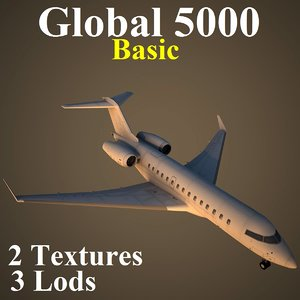 3d bombardier global basic model