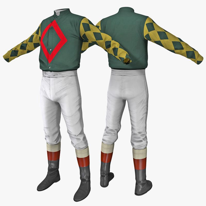 3d model of jockey clothes 2