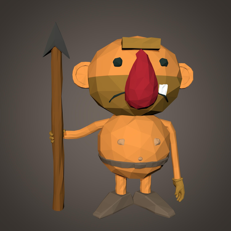 Hombre De Las Cavernas De Dibujos Animados