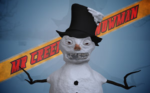 free 3ds model creepy snowman
