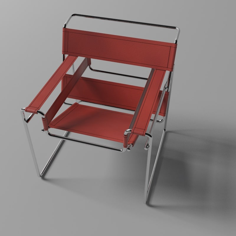 wassily chair 3d 3ds