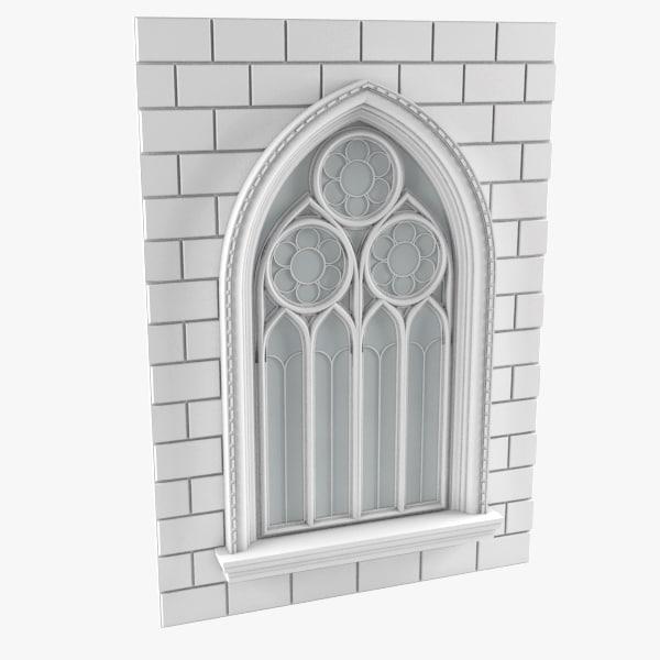 3d model gothic window