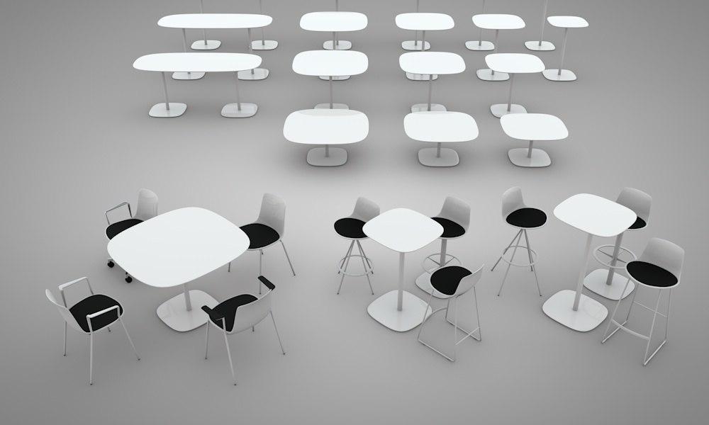 3d enea lottus chairs model