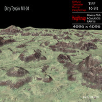 3d model dirty terrain m1-04