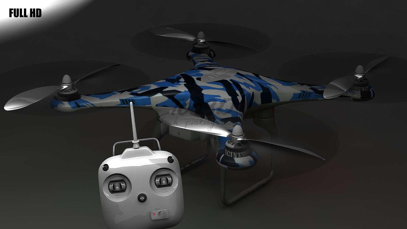 c4d phantom drone