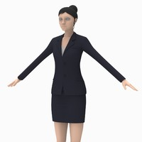 3d obj female office