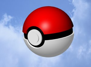 pokeball pok e 3d model