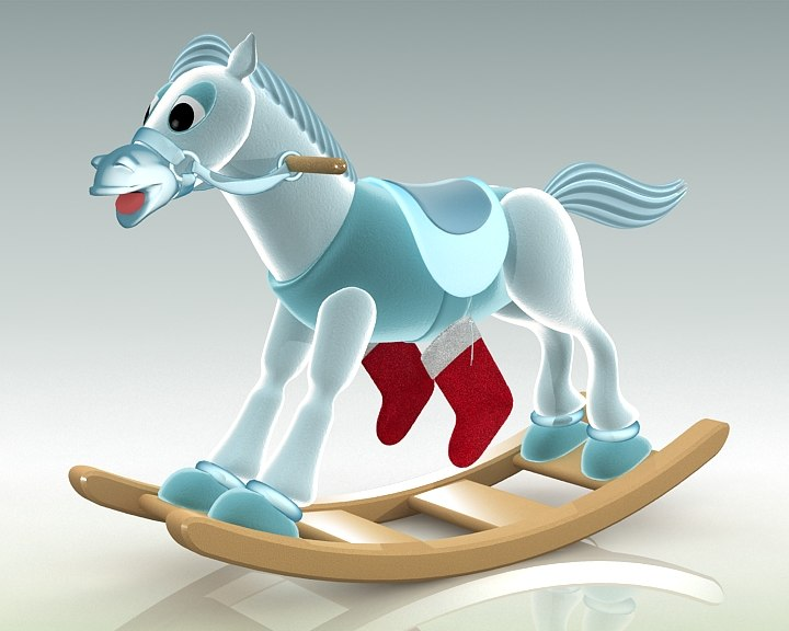 animation horse 3ds