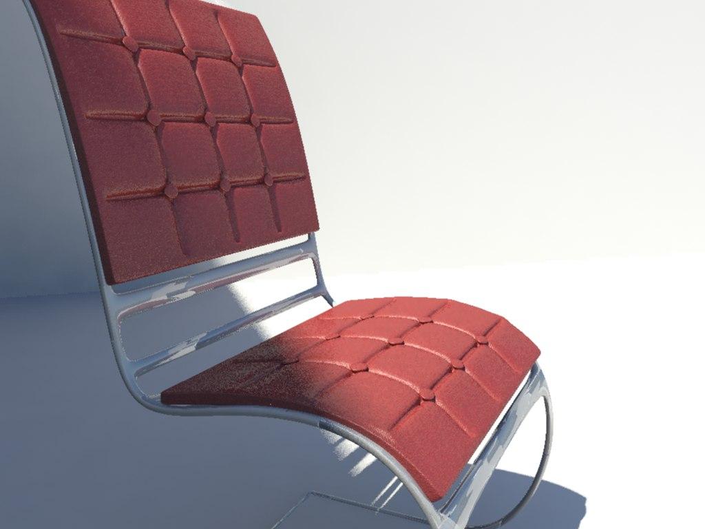 3d concept chair model