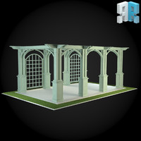 3d model of architectural modules