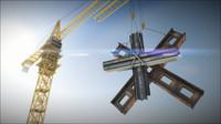 tower crane c4d