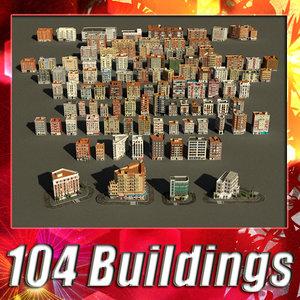 3d 104 buildings