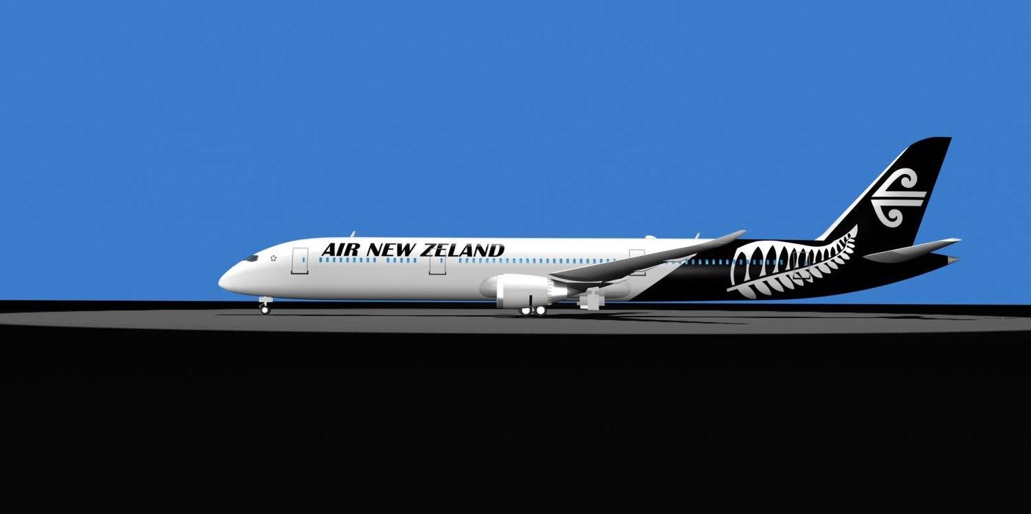 air newzeland 787-9 dreamliner 3d model