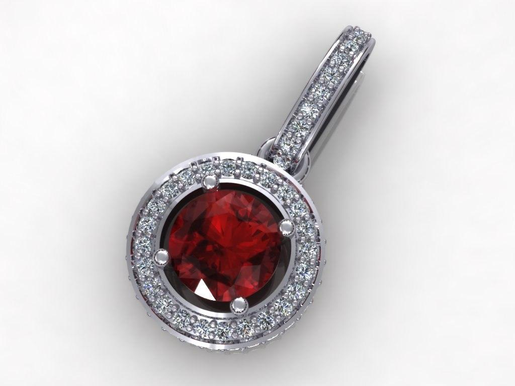 diamond pendant 3d model