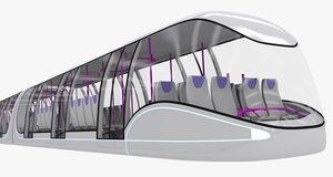 obj sci-fi metro train