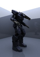 maya robot 3d model