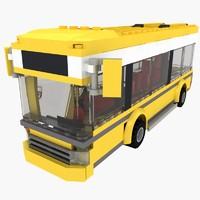 bus lego 3d model