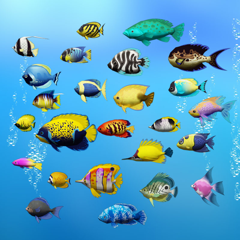 sea fish 3d max
