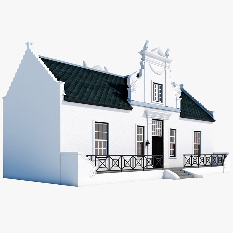 3d model cape dutch house