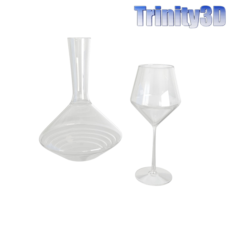 3d wine carafe