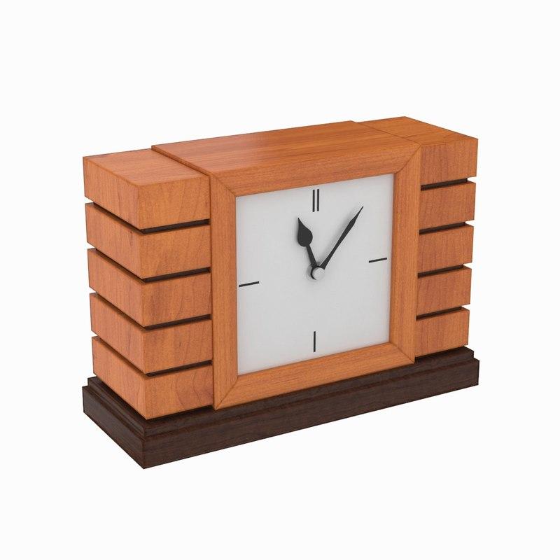 3d desk clock model