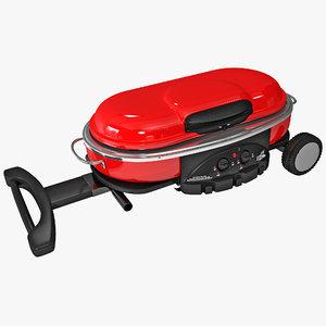 3d model of coleman road trip grill