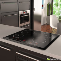 electric induction hob waterford 3d model
