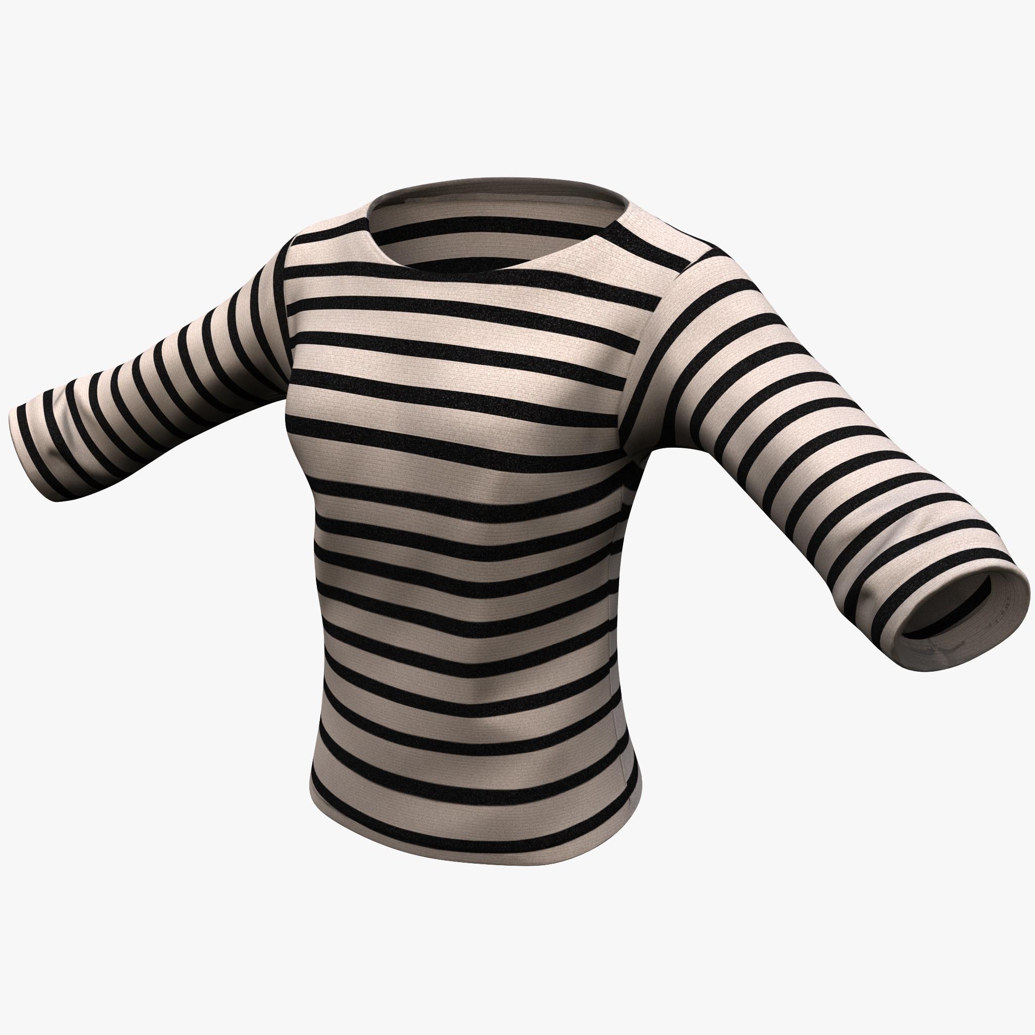 3d model female sweater
