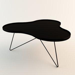 swedese flower table 3d model