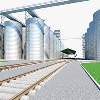 3d grain terminal 2 model