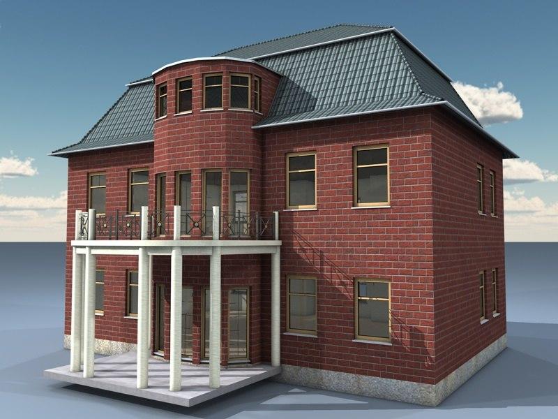 3d simple house model