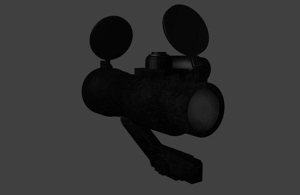 ap dot sight 3d model