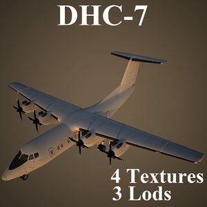 havilland canada dhc-7 3d model