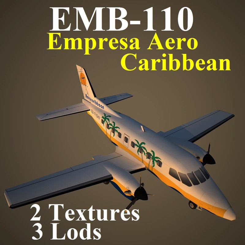 3d embraer crn model