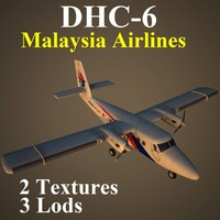 havilland mas aircraft 3d model