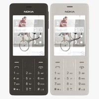 nokia 515 white black 3d 3ds