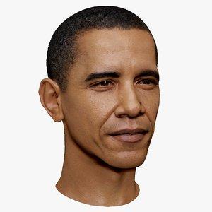 maya barack obama portrait head