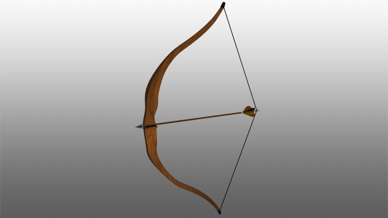 3d bow arrow rig