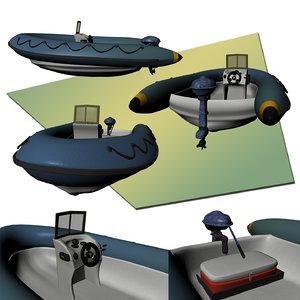 obj rib boat