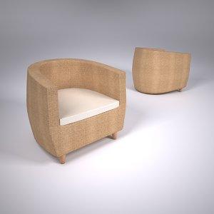 3ds max san juan armchair